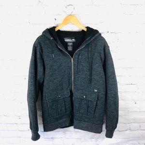 O'Neill | Gray Zip Up Hooded Jacket sz L